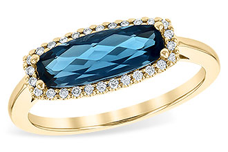 A217-32445: LDS RG 1.79 LONDON BLUE TOPAZ 1.90 TGW