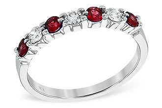 B212-80590: LDS WED RG .35 RUBY .55 TGW