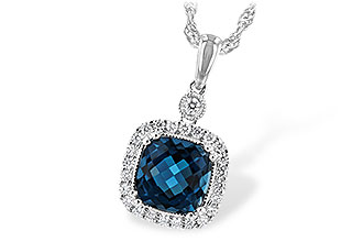 B216-37827: NECK 1.63 LONDON BLUE TOPAZ 1.80 TGW