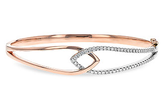 B216-44263: BANGLE BRACELET .50 TW (ROSE & WG)