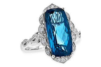B217-28736: LDS RG 6.75 LONDON BLUE TOPAZ 6.90 TGW