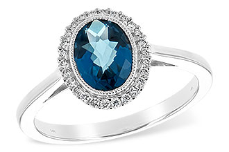 C216-37845: LDS RG 1.27 LONDON BLUE TOPAZ 1.42 TGW
