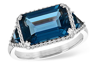 C217-29681: LDS RG 4.60 TW LONDON BLUE TOPAZ 4.82 TGW