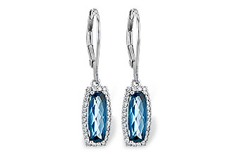 F217-33308: EARR 2.10 LONDON BLUE TOPAZ 2.28 TGW
