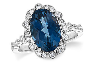 H217-29708: LDS RG 3.80 LONDON BLUE TOPAZ 4.06 TGW
